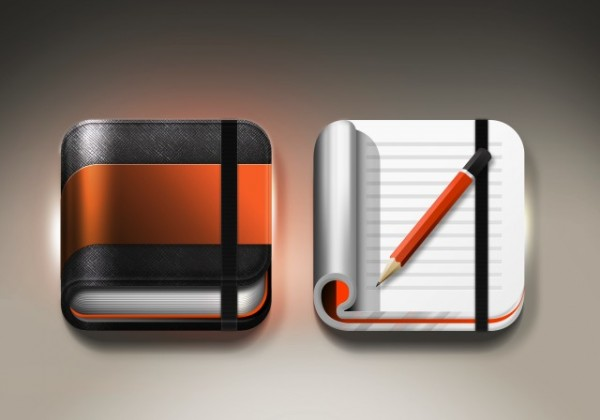 Icon designs of memo applications --- Image by © TongRo Images/Corbis